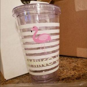 NIB Flamingo Lady Tumbler